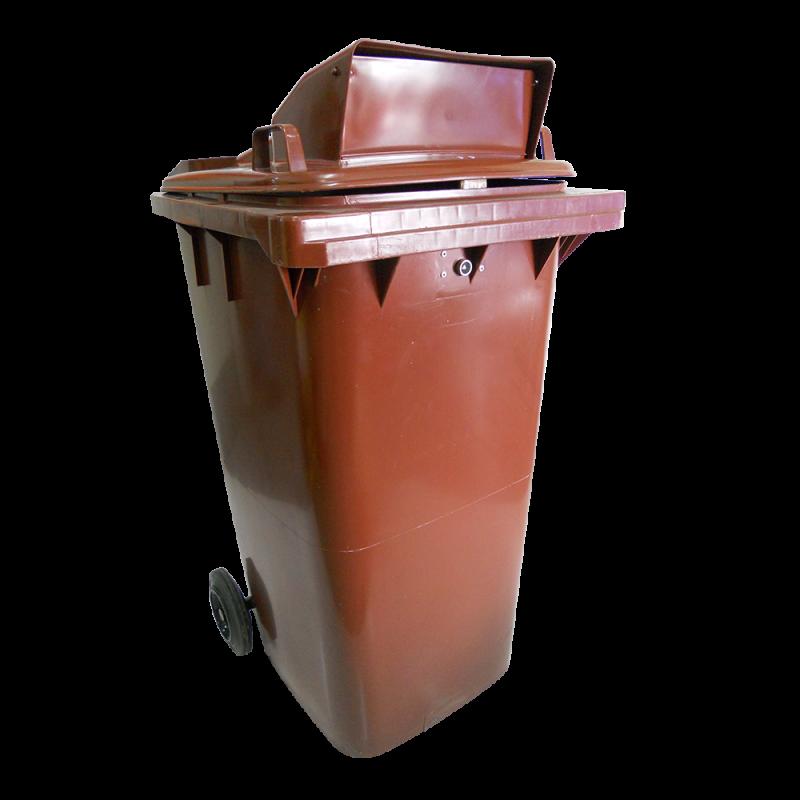Turbolid Recycle Bin (Brown) (240 Liter)
