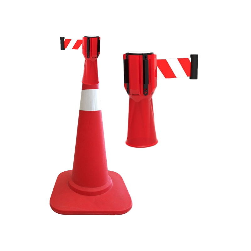 Cone Top Retractable Barrier Tape