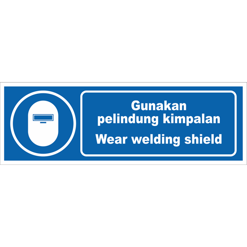 Wear welding shield