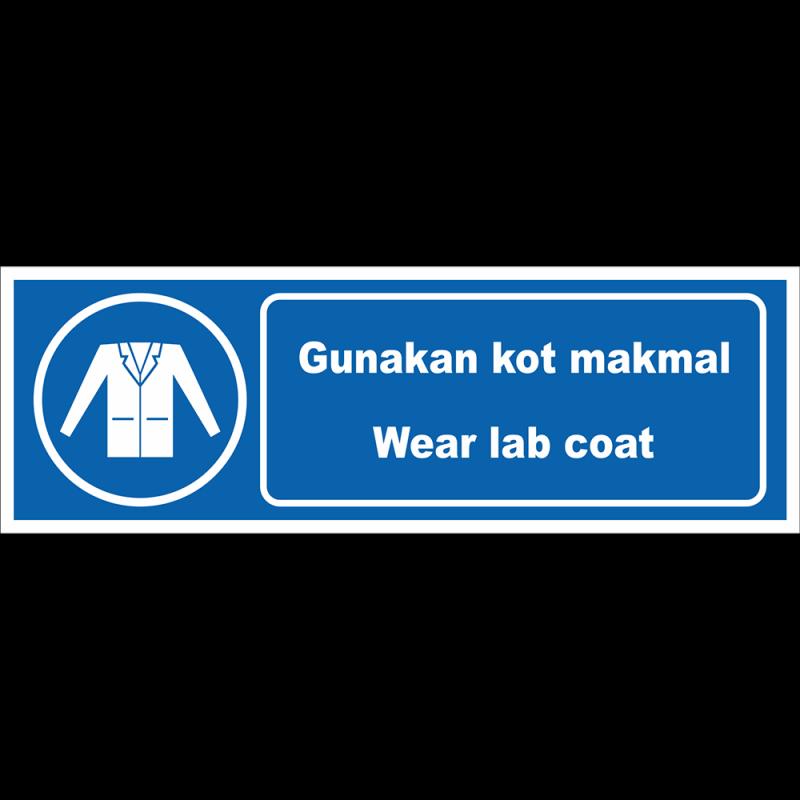 Wear lab coat