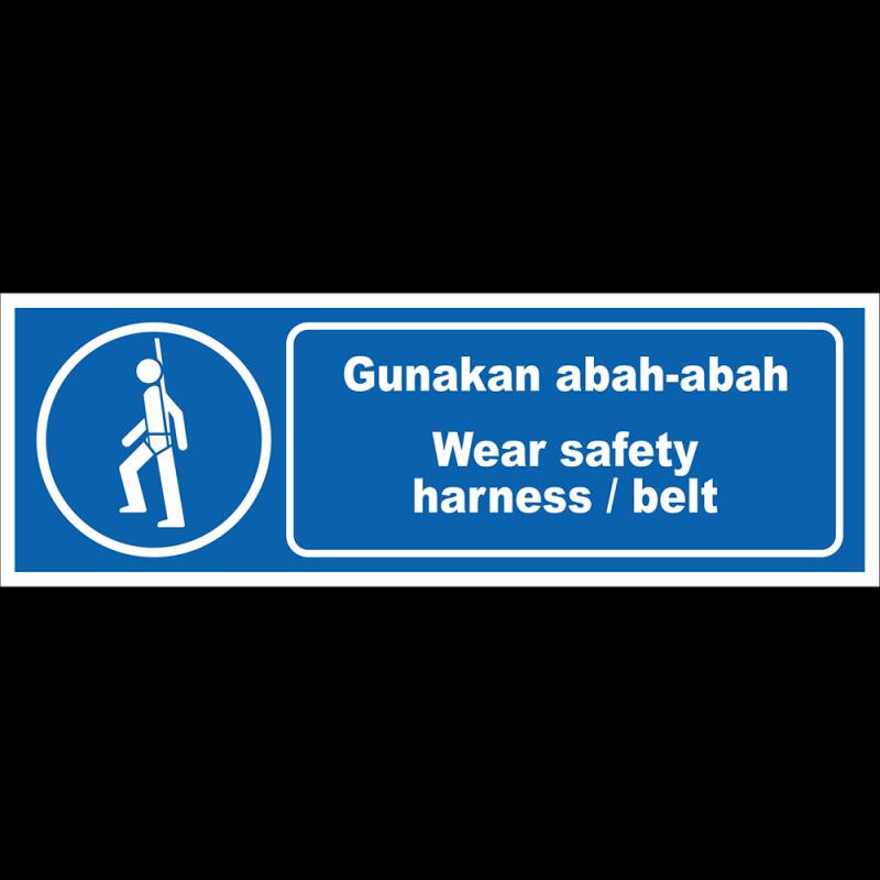 Wear safety harness/belt
