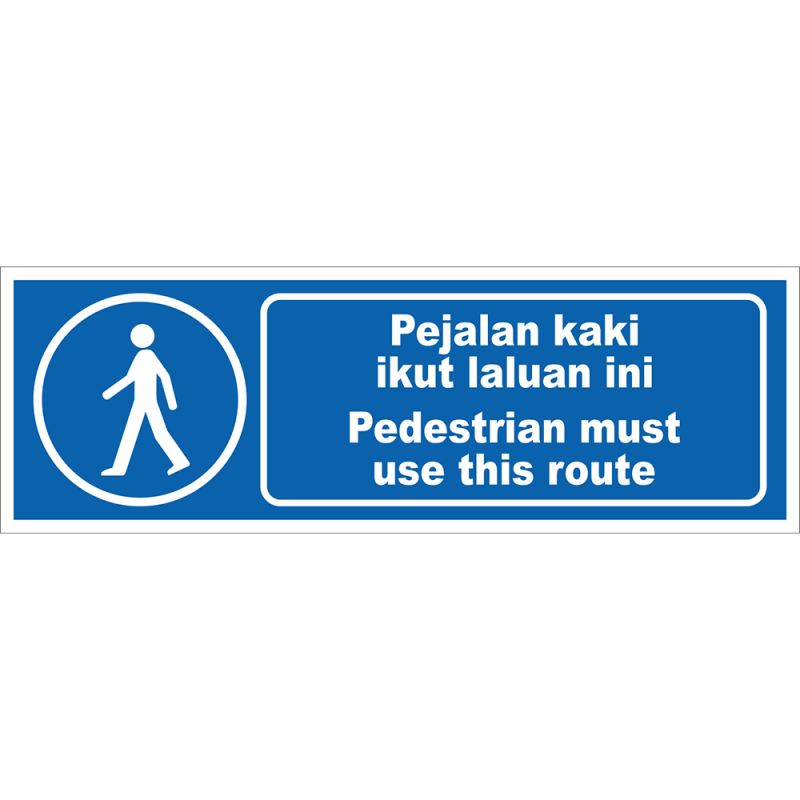 Pedestrian must use this route