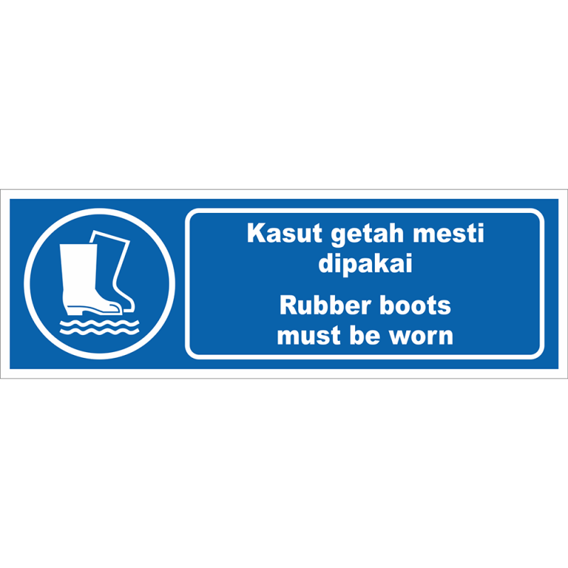 Rubber boots must be worn