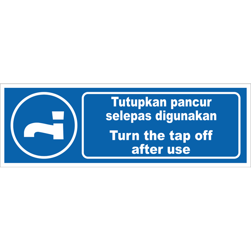 Turn the tap off after use