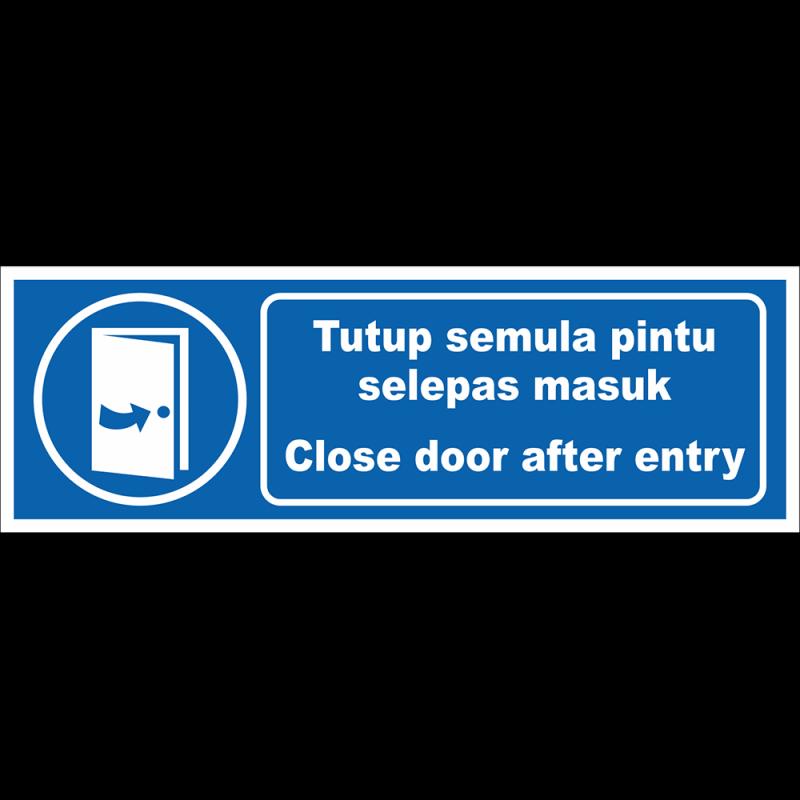 Close door after entry