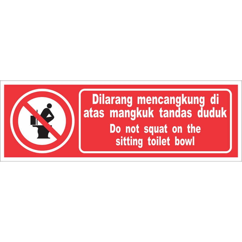 Do not squat on the sitting toilet bowl