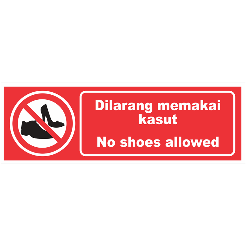 No shoes allowed