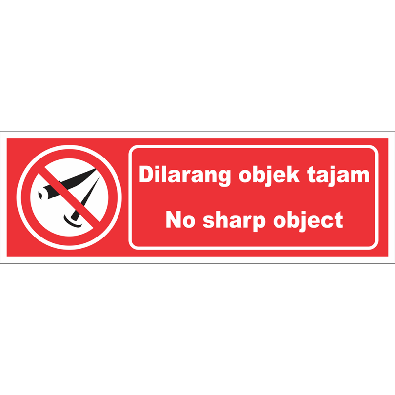 No sharp object