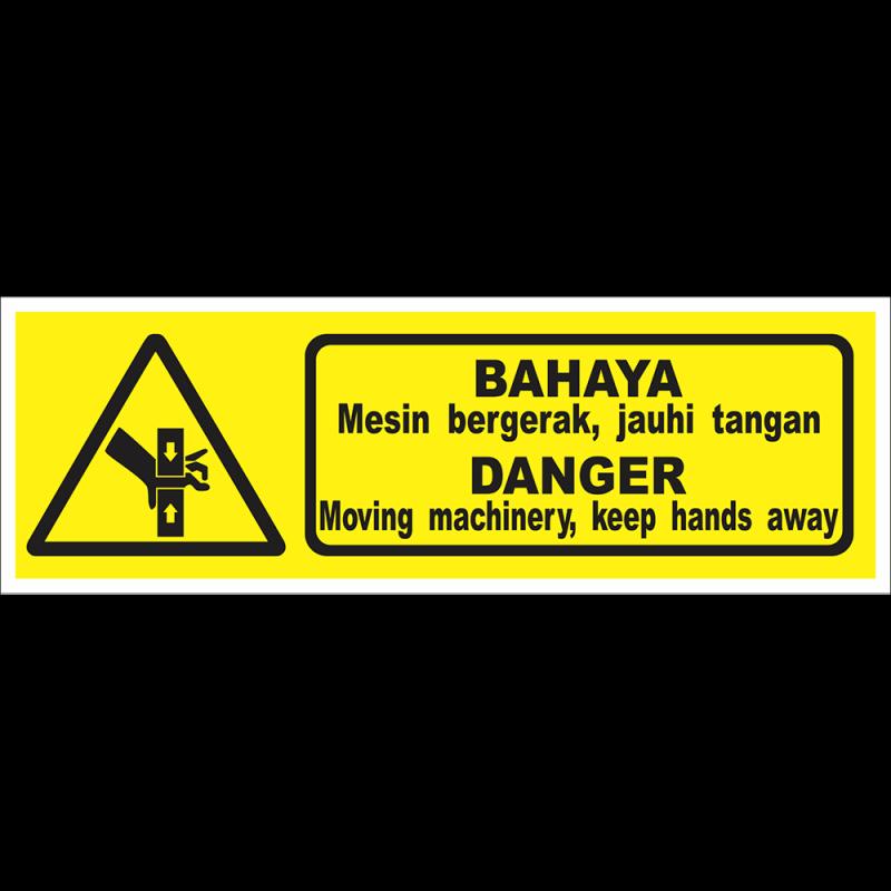 DANGER Moving machinery, keep hands away