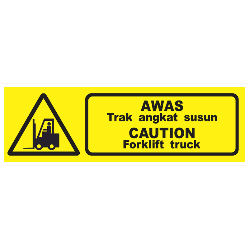 CAUTION Forklift truck