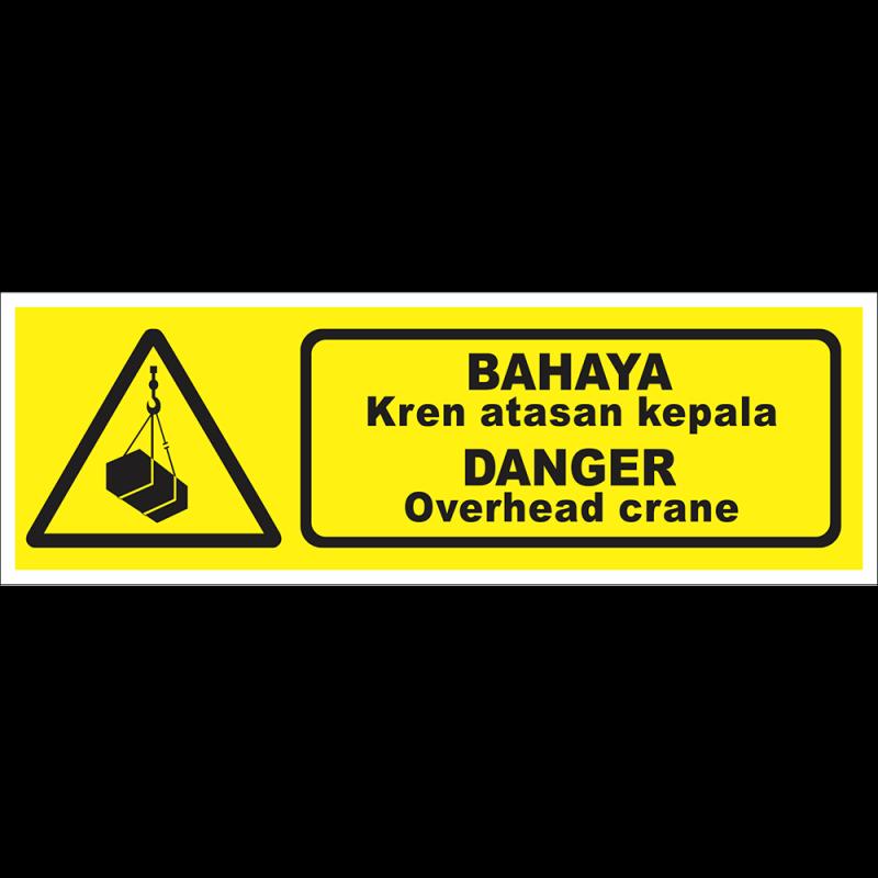 DANGER Overhead crane