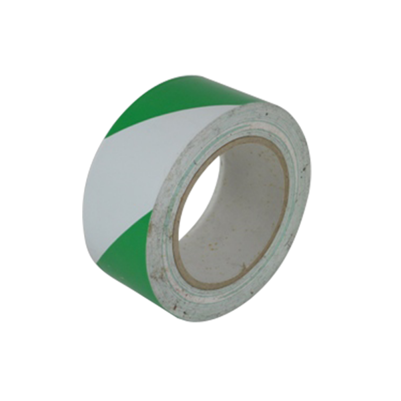 Safety Floor Tapes (Green White Stripe)